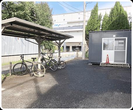 喫煙所&駐輪場
