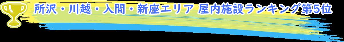 所沢・川越・入間・新座エリア 屋内施設ランキング第5位